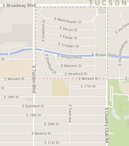Broadmoor neighborhood map